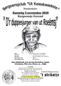 Bargoensje Oavend 2018 – 3 November